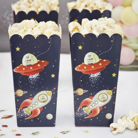 Space Adventure Pop Corn / Treat Boxes - pack of 8